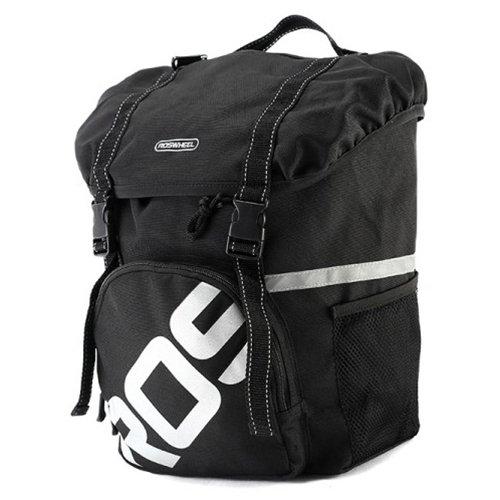 Gepäckträger Fahrrad Tasche–ROSWHEEL Wasserdicht Fahrrad hinten Rack Seat Trunk unterwegs Carry Radfahren Fahrradtasche 15L schwarz