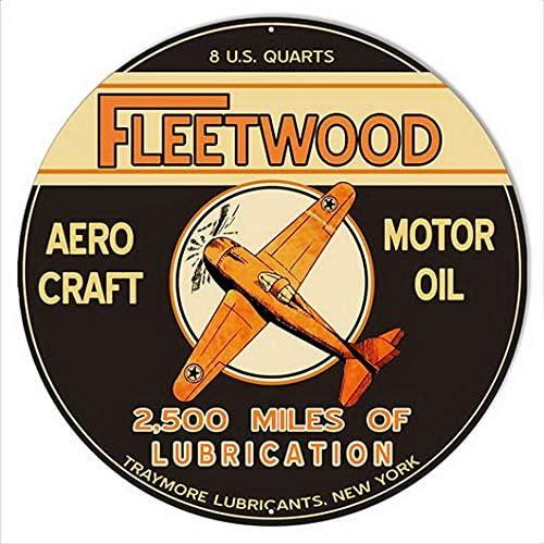 ABLERTRADE Letrero de Metal de Madera de Fleetwood para ...