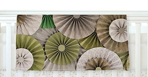 40 x 30 KESS InHouse Heidi Jennings Forest Green Abstract Fleece Baby Blanket