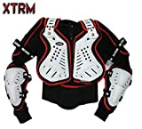 Kids Mx Body Armour Quad Pit Bike Spine Chest Safety Protective Jacket White/Red (10 Years)