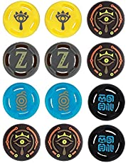 12 Pieces Switch Joy-Con Thumb Grip Caps, Joystick Cap Compatible with Nintendo Switch Joycon and Switch Lite Controller, Soft Silicone Analog Stick Covers (The Legend of Zelda)