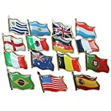 Bazaar Football World Cup National Flag Badge Country Badge