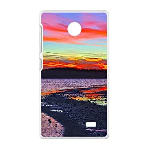 Red Clouds Sky White Phone Case for Nokia Lumia X