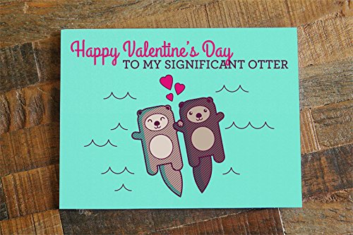 amazon com cute valentines day card significant otter funny