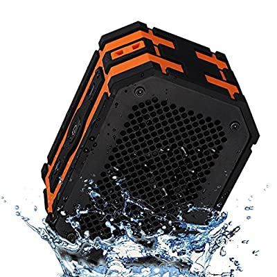 Mpow Armor Portable Wireless Bluetooth Speakers with Additional 1000 mAh Emergency Power Bank Function and Splashproof Shockproof Dustproof for Outdoor/Shower (Blue/Black)