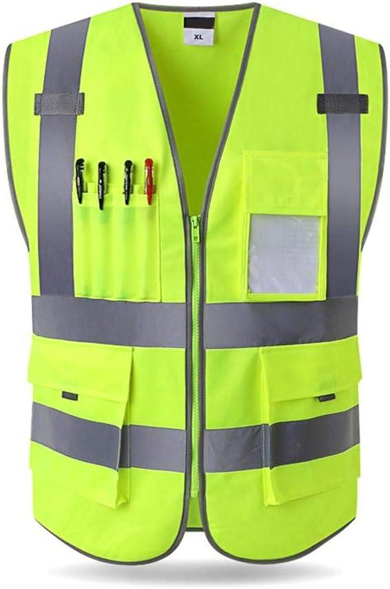 iB/àste Reflektierende Weste Engineering Sicherheit Schutz Weste Clip Verkehrs Entfernung Fluoreszierende Kleidung Jacke Hi-Vis Security Weste Warp Stricken