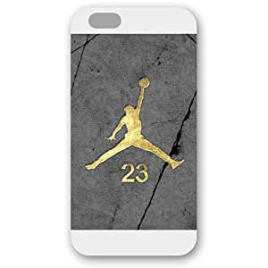 UniqueBox - Customized White Frosted iPhone 6 Plus 5.5 Case, NBA Superstar Chicago Bulls Michael Jordan iPhone 6 Plus 5.5 Case, Only Fit iPhone 6 Plus 5.5 Case