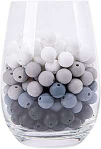 12mm(0.47inch) 100PCS Bulk Round Silicone Beads, Neutral Mix Silicone Beads, Bulk Silicone Beads, Wholesale Silicone Beads