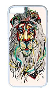 linJUN FENGApple Iphone 6 Case,WENJORS Awesome Lion I Hard Case Protective Shell Cell Phone Cover For Apple Iphone 6 (4.7 Inch) - PC White