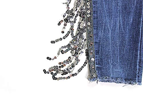 Medio Tiro Lentejuelas Jeans Detalle Jeans Modelisa Mujer Elástico OqvFHqgU