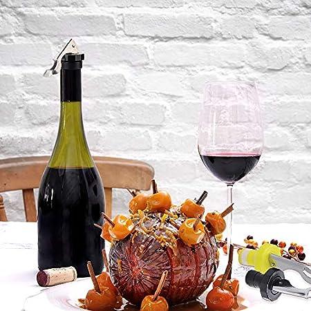 Gresunny 8pcs tapones de vino silicona reutilizable tapón para botellas de vino tapa de botella de vino con palanca sellador de botellas de vino tapones para botellas para champán cerveza bebidas