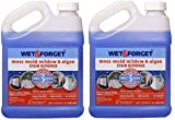 Wet and Forget 800003 Wet and Forget Moss Mold Mildew & Algae Stain Remover (2 Units)