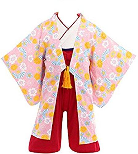 yoshi edward Kids Girls Japanese Princess Halloween Costume Kimono Yukata Dress Up & Role (Yoshi Costume Toddler)