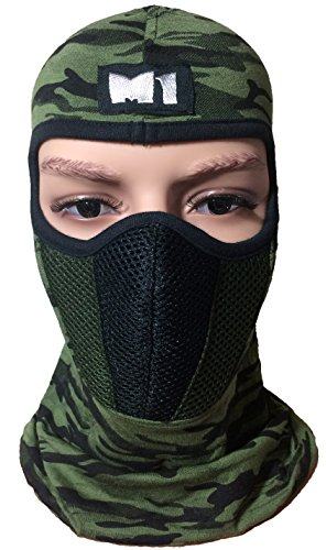 M1 Full Face Cover Balaclava Protecting Filter Camouflage Mask (BALA-CAMO-GREN)