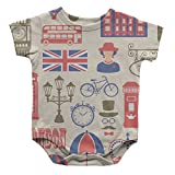 Travel Bicycle London Infant One Piece Snapsuit Bodysuit 6 Months