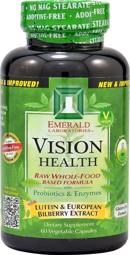 Emerald Labs Vision Health -- 60 Vegetable Capsules - 2PC