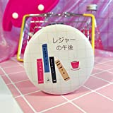 Yingealy Childrens Mirror Adorable Double Sided Metal Round Shape Books Pattern Compact Pocket Size Mirrors