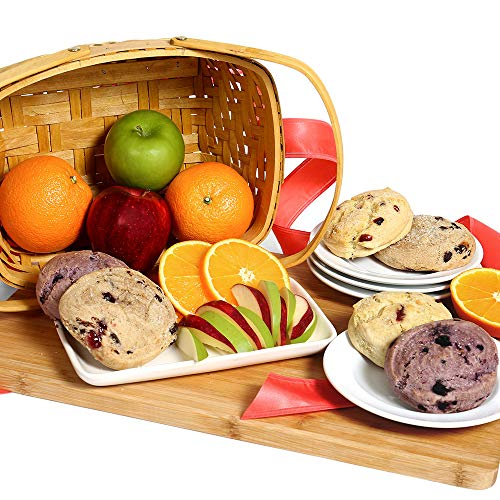 Gourmet Fruit Basket with Freshly Baked Scones - Fruit Gift Basket for Mom, Birthdays, Thank You, Congratulations, New Baby, Get Well, Sympathy, Housewarming, and Just Because