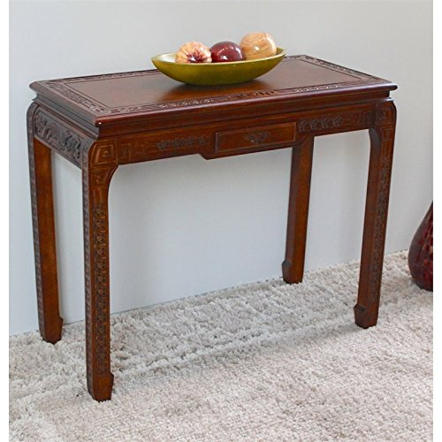 International Caravan ZM-3816-ST-IC Furniture Piece Windsor One Drawer Ming Console Table Ming Console