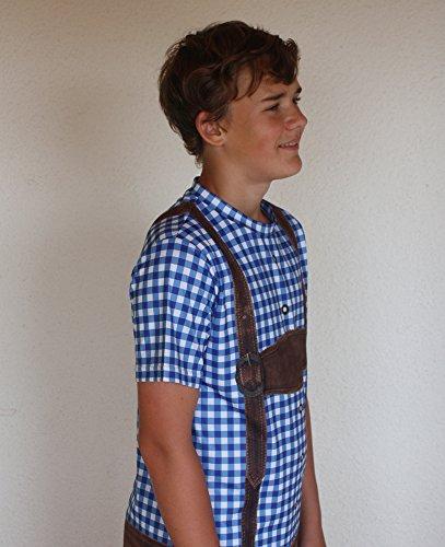 Trachtenshirt - T-Shirt im Trachtenlook - BLAU - UNISEX