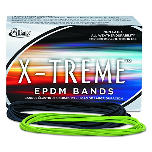 Alliance Rubber 02005 EPDM Non-Latex Rubber X-treme File Bands, 175 Pack (7 x 1/8, Lime Green)
