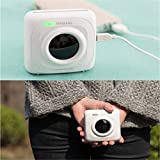 comtervi PAPERANG P1 White Mini Wireless Paper Photo Printer Portable Bluetooth Instant Mobile