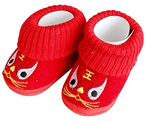 CRB Fashion Baby Newborn Infant Boy Girls Traditional Chinese New Years Asian Sock Shoes (13cm, ()