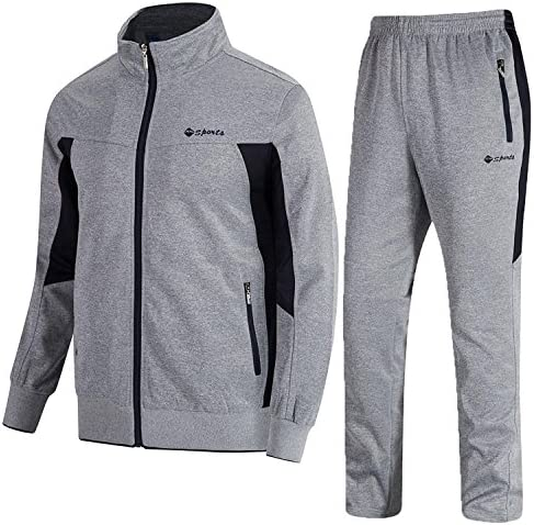 TBMPOY Mens Tracksuit Athletic Sports Casual Full Zip Sweatsuit