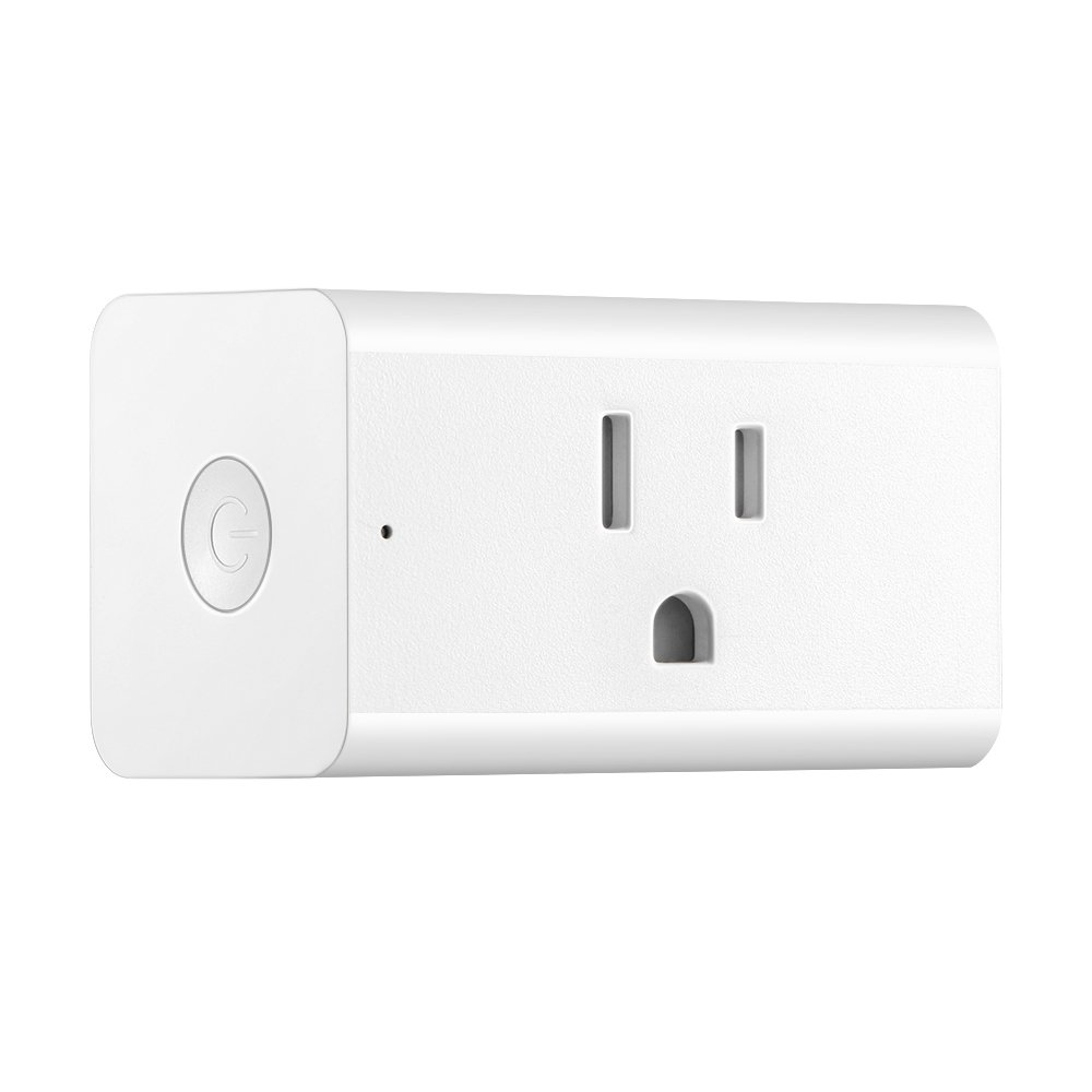 Konesky Wi-Fi Smart Plug Outlet Works with Alexa, Google Assistant and IFTTT, Wireless Smart Socket High Power Switch (15A 1800W) with Remote Control, Timing Function and No Hub Required(2-Pack)
