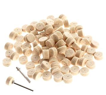 50 Stücke Wolle Filz Polieren Polieren Rad Schleifen Polieren Pad Dateien 4 Stücke Shanks Für Dremel Dreh Werkzeug Dremel