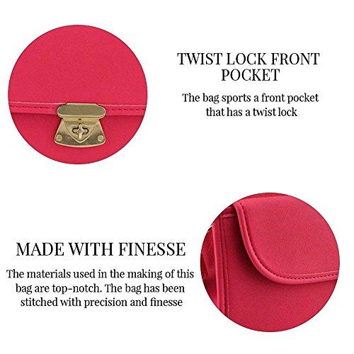 TrendStar - Bolso de tela para mujer rojo B - Red AA - Tan