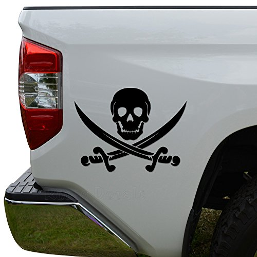 jolly roger car window decal - 1