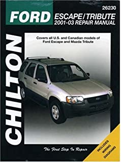 Ford escape and mazda tribute 2001 2012 with mercury mariner repair ford escape mazda tribute 2001 through 2003 chiltons total car care repair manual fandeluxe Images