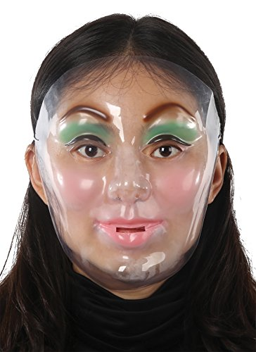 [UHC Young Female Funny Creepy Theme Party Halloween Costume Mask] (Cool Female Superhero Costumes)