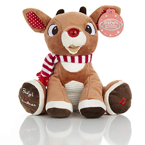 Rudolph The Red-Nosed Reindeer Baby's First Christmas Plush...