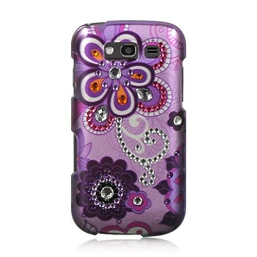 Galaxy S Blaze 4G Case, Dreamwireless Violet Rubberized Hard Snap-in Case Cover With Diamond For Samsung Galaxy S Blaze 4G SGH-T769 (T-Mobile), Purple