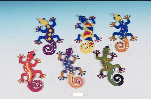 (Decorative Metal Gecko Wall Plaques Set of)