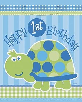 Bolsas para lotes de regalo primer cumpleaños fiesta tortuga ...