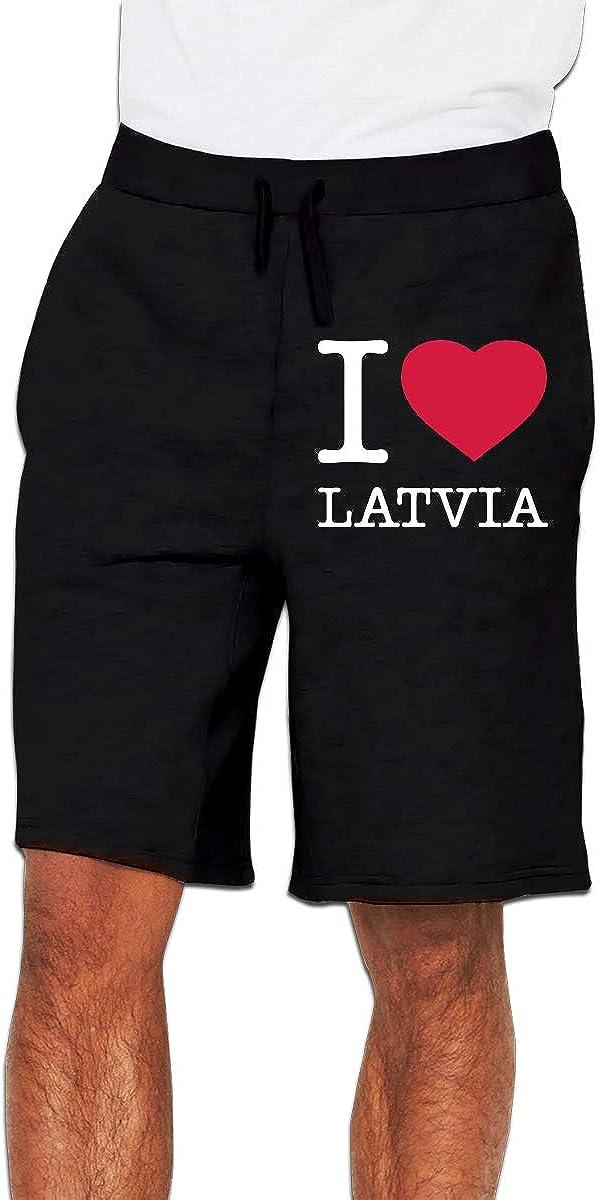 Mens I Love Latvia Jogger Shorts Active Short