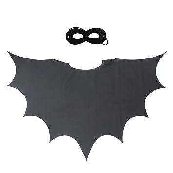 Alas de murciélago para niños capa de superhéroe y máscara para niños niñas Rol Cosplay Disfraces