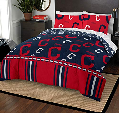The Northwest Company MLB Cleveland Indians Full Bed in a Bag Complete Bedding Set #529198569