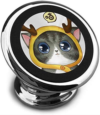 アントラー子猫 携帯電話ホルダー おしゃれ 車載ホルダー 人気 磁気ホルダー 大きな吸引力 サポートフレーム 落下防止 360度回転