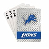 Pro Specialties Group NFL Detroit Lions Diamond Plate Playing Cards