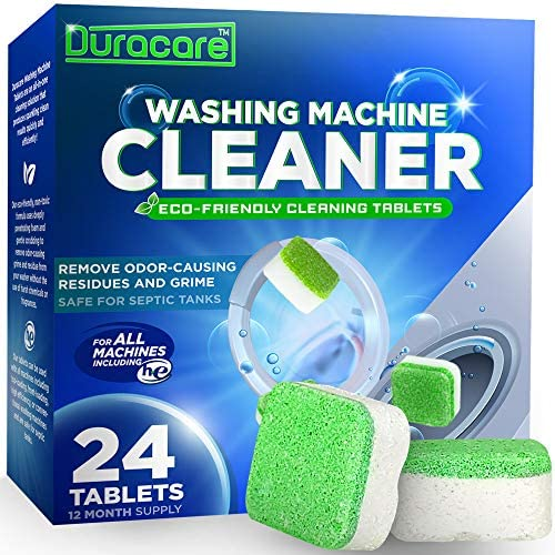 Duracare Washing Machine Cleaner   Heavy-Duty Deep Clean and Deodorize   24 Tablets - 1 Year Supply   Best for HE, Frontload, and Topload Washers