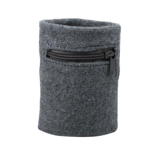 Suddora Multi Colored Zipper Sweatband Wristband (Gray) (Zipper Band)