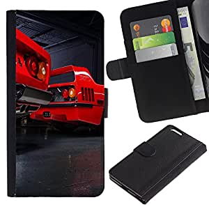 LECELL--Cuero de la tarjeta la carpeta del tirón Smartphone Slots Protección Holder For Apple Iphone 6 PLUS 5.5 -- F40 Vintage --