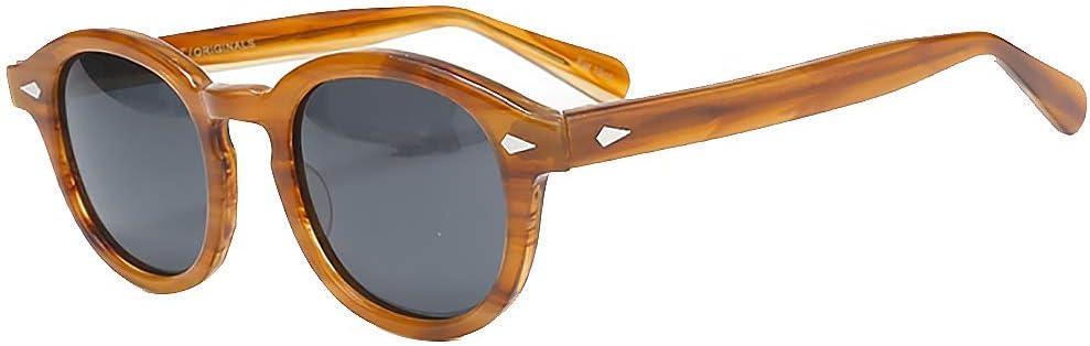 Lzpzz Piraten-Kapit/än Johnny Depp Stil Oval Kunststoff Sonnenbrillen Mode for M/änner und Frauen Vintage-Sonnenbrillen Gradation Sonnenbrille Objektiv Color : C1