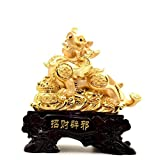 GL&G High-end gift office large Lucky Decoration living room Ornaments Opening gift Tabletop Scenes Sculptures Statues Collectible,341638 cm