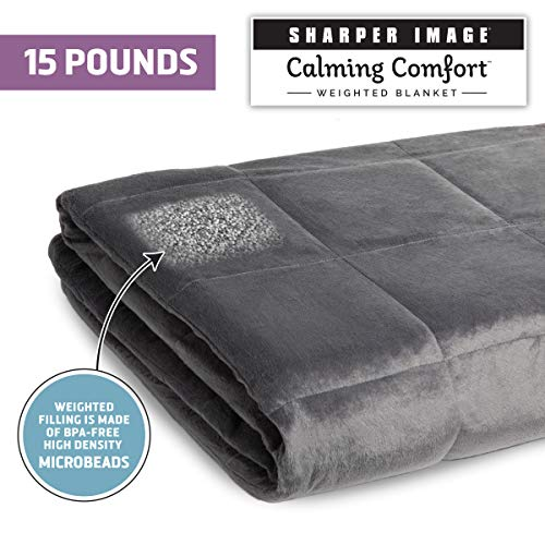 Allstar Innovations Calming Comfort Weighted Blanket-15 lbs, 15-Pound, Grey