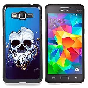 - Abstract Skull - - Cubierta del caso de impacto con el patr??n Art Designs FOR Samsung Galaxy Grand Prime G530H G5308 Queen Pattern